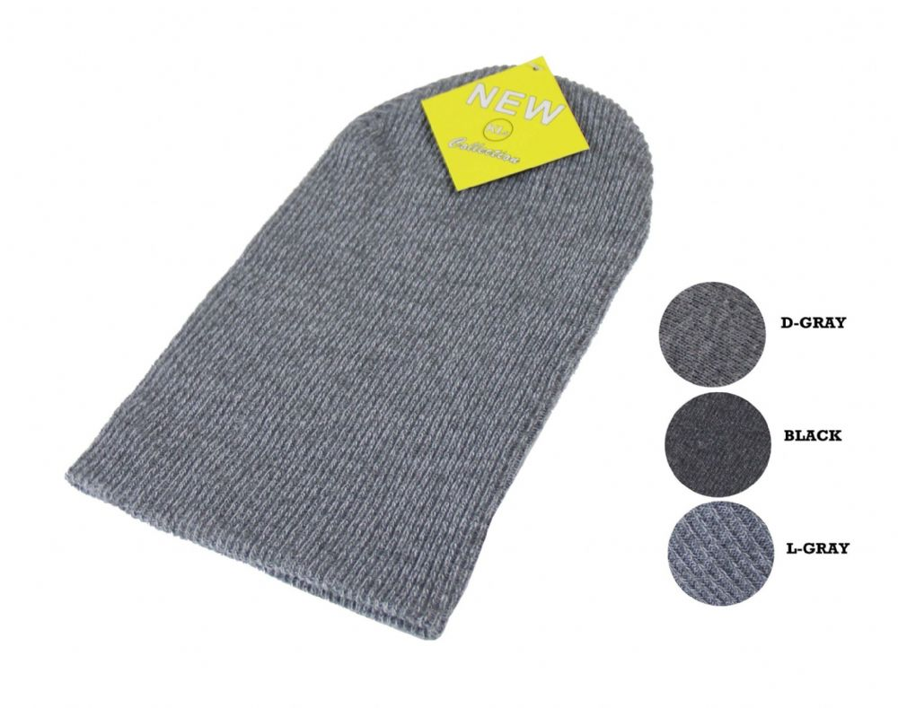 S16-HT6621 Boys beani stylish long thermal hat unisex beani winter beani hat